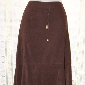 Ladies skirt ,midi with flounce
